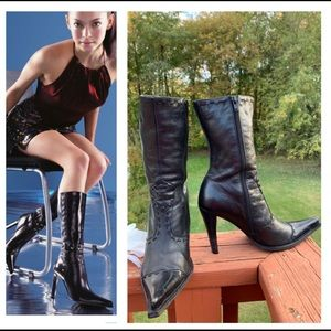 WOMENS DOLLHOUSE LEATHER FASHION BOOTS